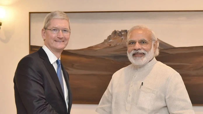 The plant, according to reports, will be set up by Apple's Taiwanese manufacturing partner Wistron, at Peenya in Bangalore. Apple has reportedly been discussing the plausibility of making the iPhones in the country, with the government, with an aim to make inroads in the South Asian market. (Photo/PIB)