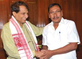 Union Minister of State for Railways Rajen Gohain with Suresh Prabhu, Minister, Railway (Photo/PIB)