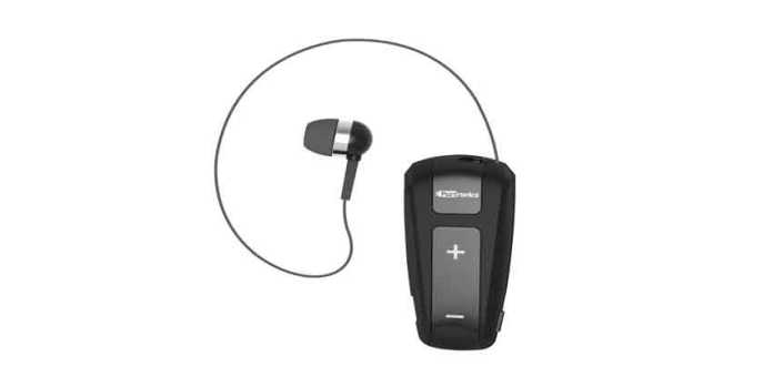 Harmonics Klip comes with Bluetooth V4.1 connectivity and a retractable earbud. (Photo/Portronics)