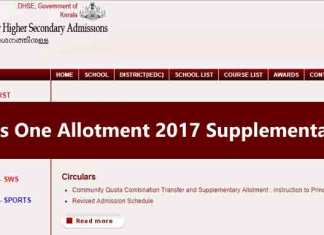 The Higher Secondary Centralised Admission Process (HSCAP) will announce the Kerala Plus One Allotment 2017 Supplementary Results at hscap.kerala.gov.in on July 15 (Photo/Web)