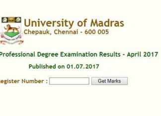 Madras University April 2017 Regular college results declared at ideunom.ac.in (Rep Image)
