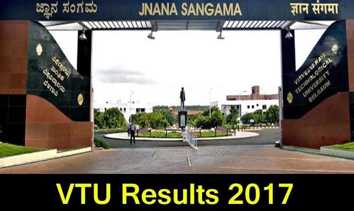 VTU BE, BTech 5th, 6th semester results 2017