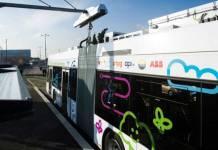 flash charging technology, electric bus, green energy, technology, ABB, engineering, bus charging technology, bus recharge, geneva