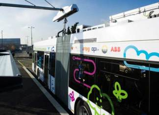 flash charging technology, electric bus, green energy, technology, ABB, engineering, bus charging technology, bus recharge, geneva