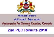 PU examinations of Karnataka, PUC 2018 Marks Sheet, PUC 2018 Score, PUC Results 2018, Karnataka PUC Results 2018