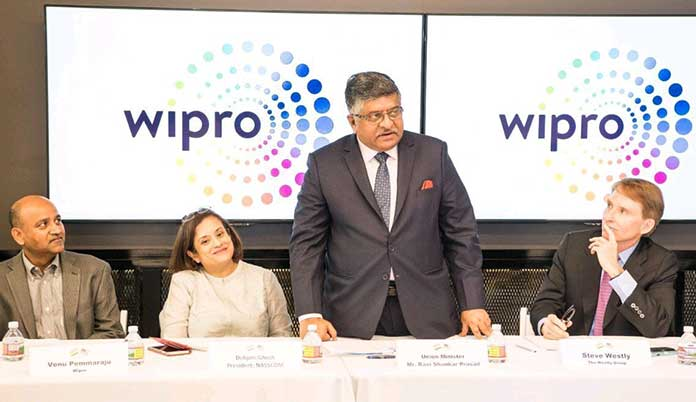 Union IT Minister Ravi Shankar Prasad has an informative visit to the Wipro innovation centre in Silicon Valley. (Photo/Twitter/@rsprasad)