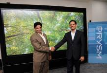 (L-R) GB Kumar, Vice President - India and Asia Pacific and Amit Jain, CEO and co-founder, Prysm Inc.