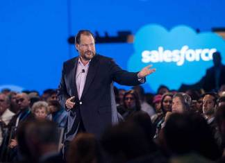 Marc Benioff, Chairman and co-CEO of Salesforce (Photo/File/Jakub Mosur)