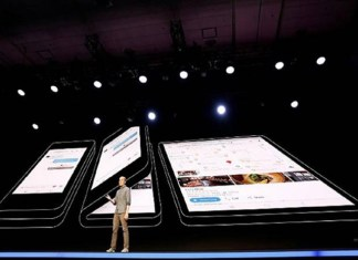 In software developers conference in San Francisco, Samsung Electronics showcased a new Samsung foldable phone.