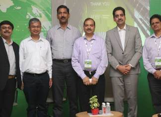 (L-R) Vikas Jerath, Director, Business Development, Juniper; Mukesh Meshram, Secretary, Medical Education, Government of Uttar Pradesh; Ashutosh Pandey, ADG, Technical Services, UP Police; Pravir Kumar, Chairman, Board of Revenue, Government of Uttar Pradesh; Sriram TV, Director- Consulting & Business Development, Juniper; and Dr. Rajesh Harshvardhan, Director - Hospital Administration & Medical Superintendent, Sanjay Gandhi Postgraduate Institute of Medical Sciences (SGPGI).