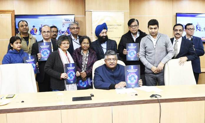 IT minister Ravi Shankar Prasad launched NIC Centre of Excellence (CoE) on Blockchain Technology at Bengaluru. (Photo: Twitter/@rsprasad)