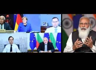 Prime Minister Narendra Modi participates in the India-EU Leaders' Meeting through video conferencing (Photo: PIB)