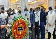 On the occasion of the National Mourning Day and Bangabandhu Martyrdom Anniversary on 15 August, a wreath was laid at the portrait of Father of the Nation Bangabandhu Sheikh Mujibur Rahman at ICT Tower (Photo: File)