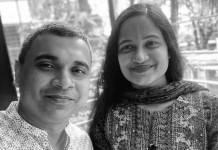eOrange's owner Sonia Mehjabin and her husband Masukur Rahman (Photo: Agency)