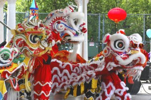 A variety of Asian cultures and traditions are represented in the parade.