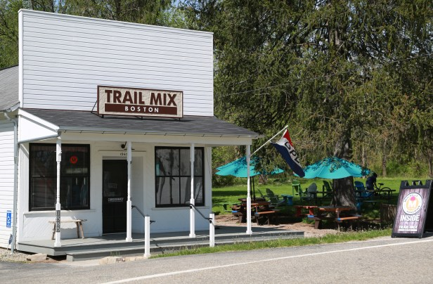Take a break from your adventure to grab some ice cream or snacks at any number of quaint shops along the trail.