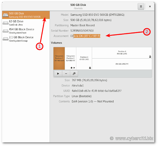 Monitoring hard disk Temperatures on OpenSUSE Linux with GUI tool