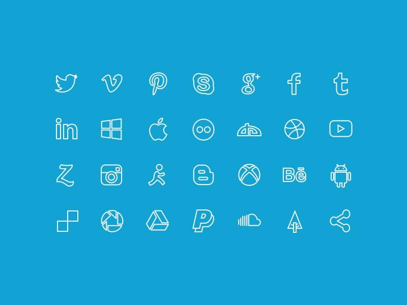 minima-flat-social-icons