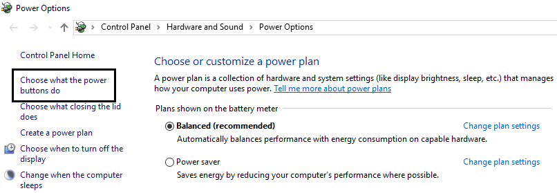 choose what the power buttons do usb not recognized fix