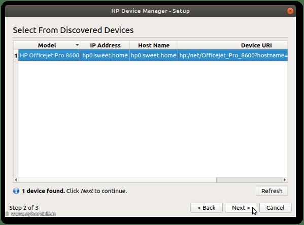 Ubuntu Linux Set up HP using GUI and IP address