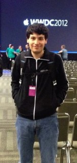 Moustafa Baalbaki, creator of Beirut Electricity, at the Apple World Wide Developers Conference (WWDC) in 2012