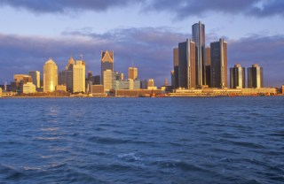 Image of Detroit skyline via Shutterstock
