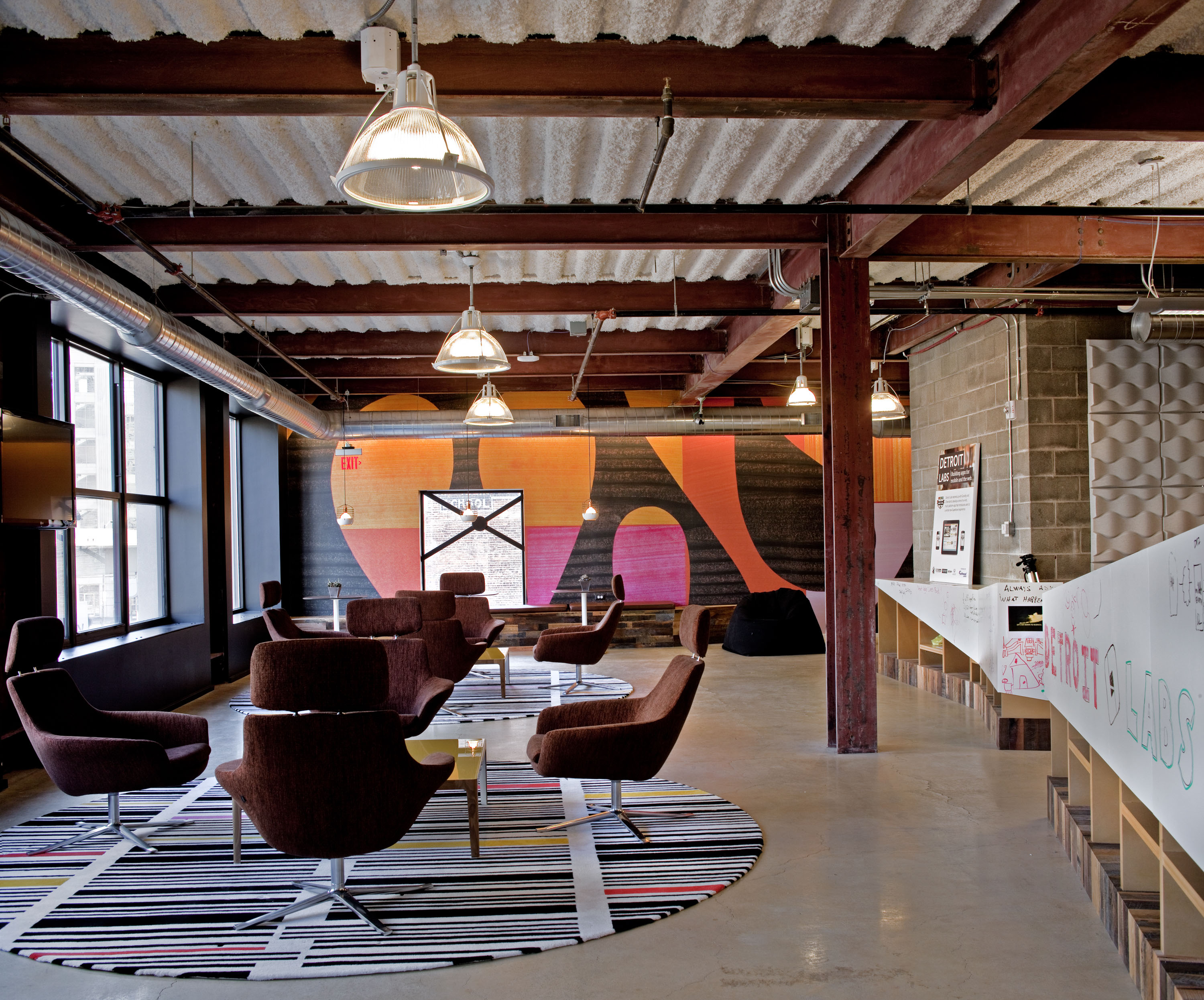 Perfect Doodle Home Office Space In Downtown Detroit
