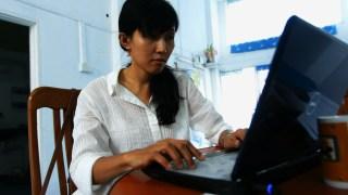 An Internet user in Myanmar. (Photo: Reel Media Myanmar)