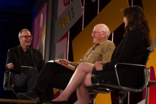 Andrew Hessel (l) with Stewart Brand and Eri Gentry at Techonomy 2013 in Tucson, Ariz.