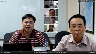 HIV specialists in Vietnam use video conferencing to train local health workers. Photo courtesy of HAIVN.