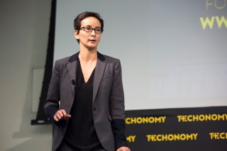 Simone Ross onstage at Techonomy Policy 2015. (Photo by Rebecca Greenfield)