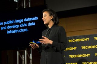 "Tiana Epps-Johson presents at Techonomy Detroit 2015 on ""Civic Engagement & The New Digital Divide"""