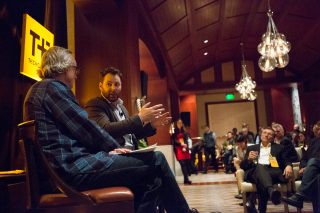 """Sean Parker being interviewed by David Kirkpatrick at Techonomy 2015. Memorable line: """"I'll discourage my kids from using the products I built."""""""