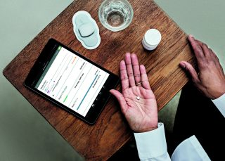 Proteus, where author Thompson is CEO, makes Digital Medicines that communicate with your mobile device when swallowed.