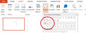 Select Arc Shape - Vector designing in PowerPoint