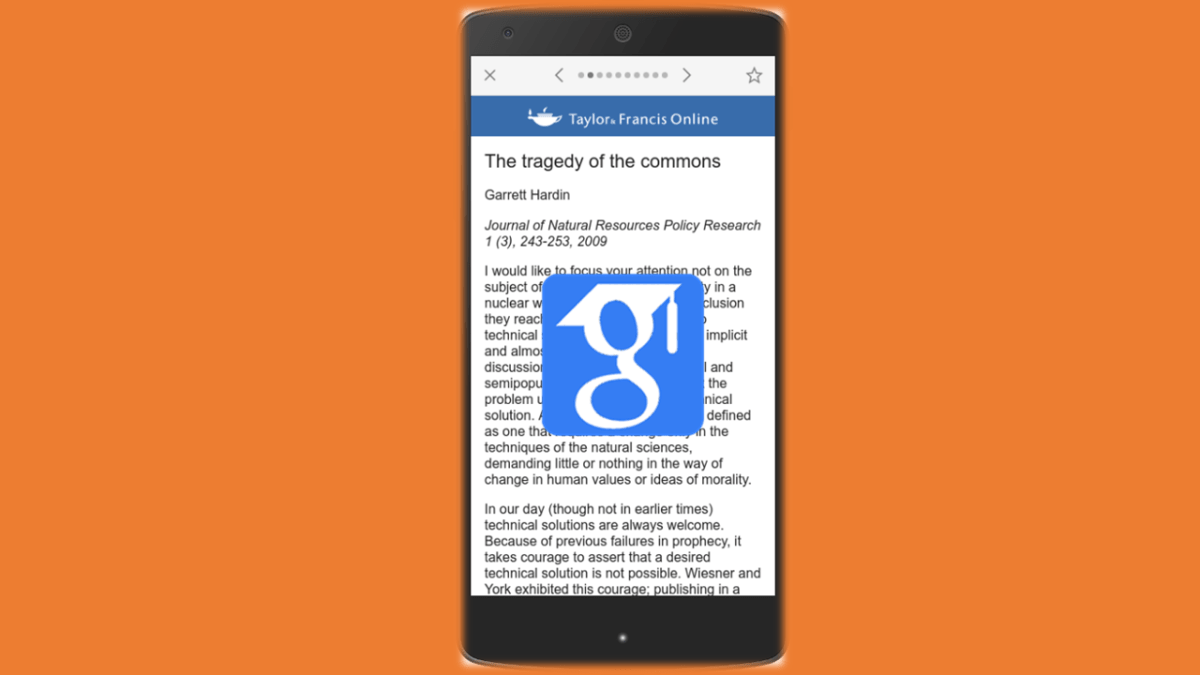 Google Scholar is on your Phone Now