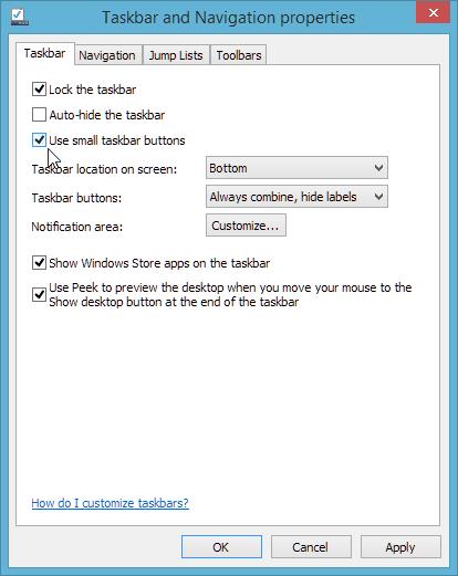 Small taskbar icons