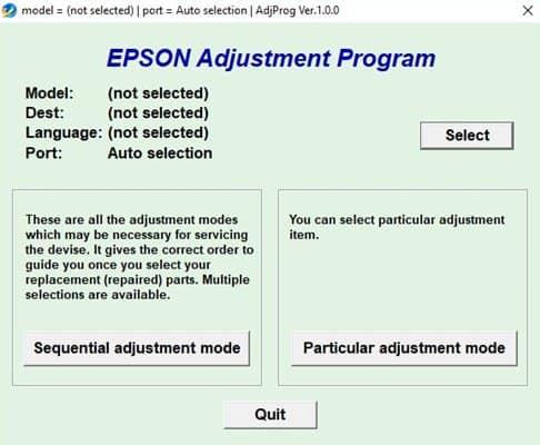 Download Epson Resetter Tool - Epson L220, 210,380,120