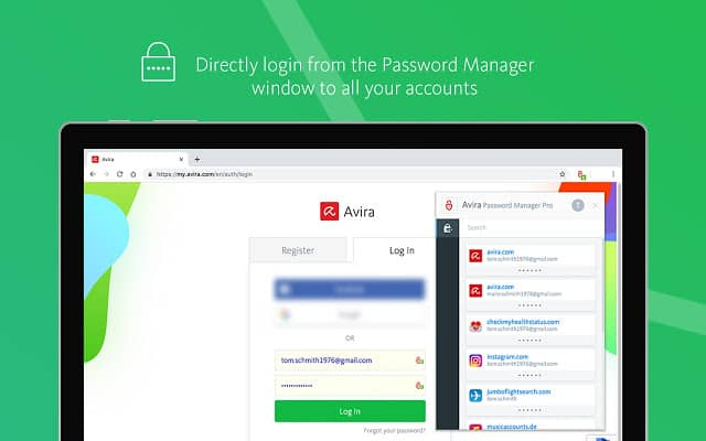 Avira - Best Password Manager Chrome extension for Windows 10