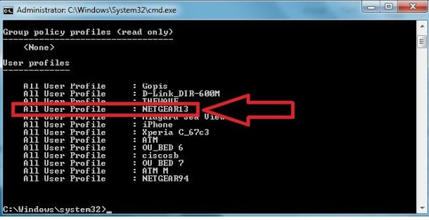 How to Hack Wifi Password using cmd