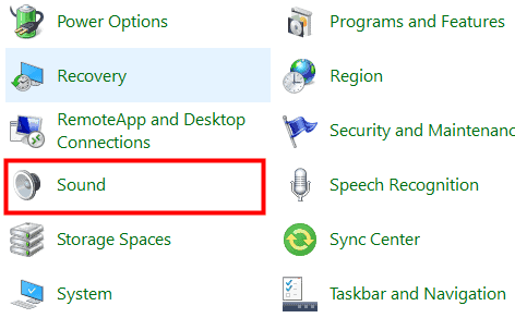 Windows Sound setting