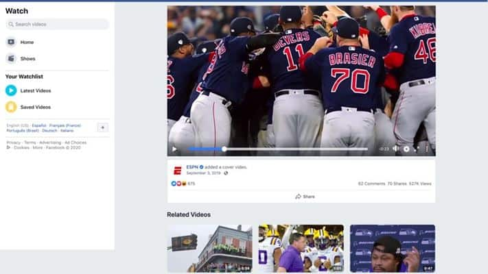Facebook - Best Sports Streaming Sites