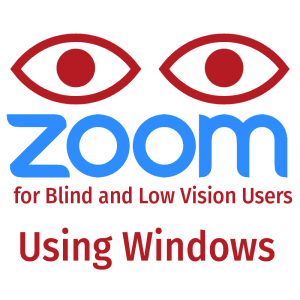 ZOOM for blind and low vision users using windows