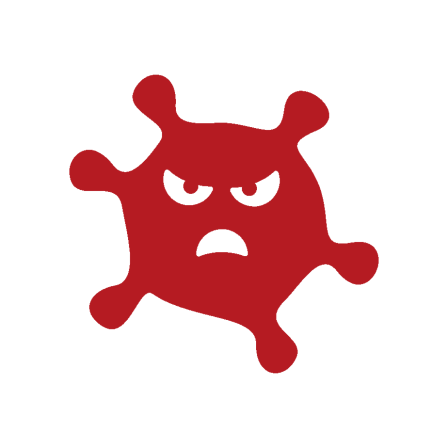 red image of angry virus