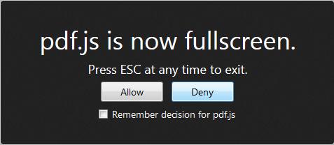 Firefox PDF Full Screen