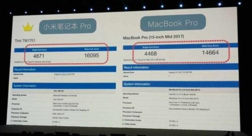 小米筆記本Pro比較Mac