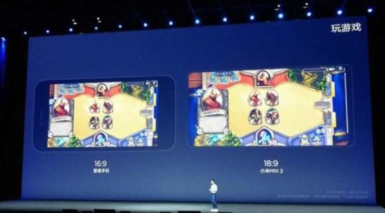 小米Mix2手機全面屏玩遊戲