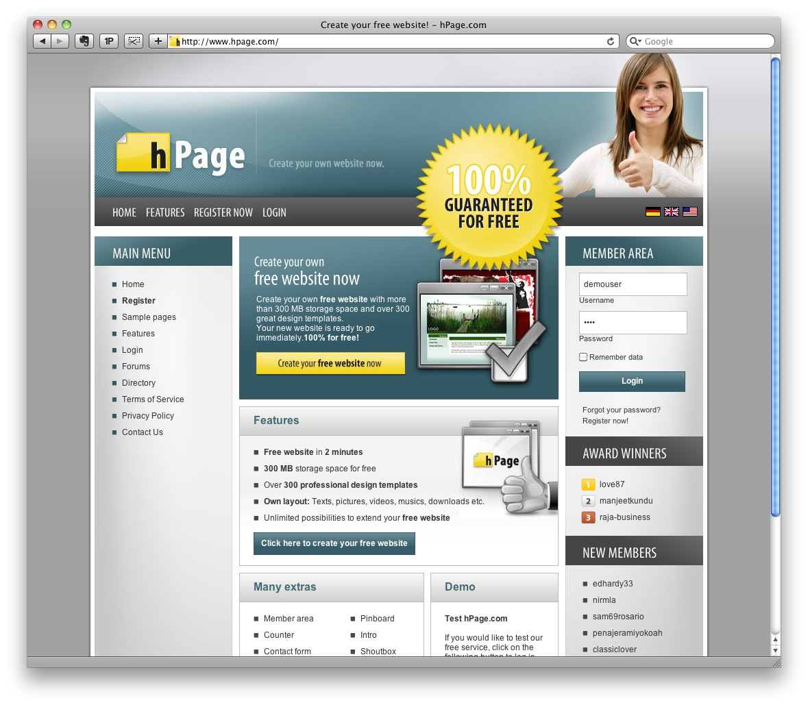 how to create a website easily and free