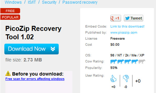 PicoZip-Recovery-Tool