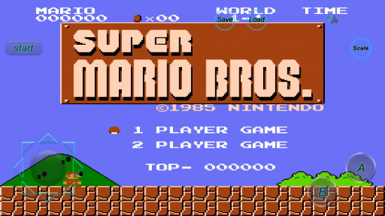 Super Mario Bros Title screen